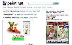Paint.NET-Free image and photo editing software for Windows. It features layers, unlimited undo, special effects, and a wide variety of useful and powerful tools.