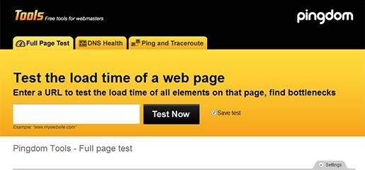 Pingdom Tools-Test the load time of a Web page.