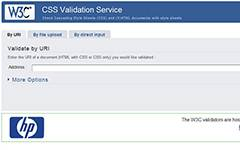 W3C CSS validation service.