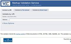 W3C Markup validation service.