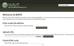 WAVE-Web accessibility evaluation tool.