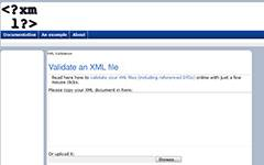 XML validation tool.
