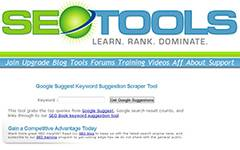 SEObook - Google Keyword Suggestion Tool. Tool to help you find relevant frequently searched phrases on Google.
