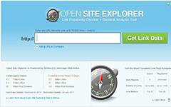 Open Site Explorer Link Popularity and Backlink Analysis tool.