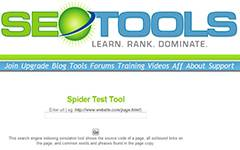 Spider Test Tool. This search engine indexing simulator tool shows the source code of a Web page, all outbound links on the page, and common words and phrases found in the page.