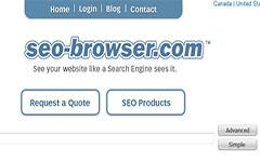 SEO Browser - View a Website like a Search Engine does.