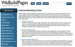 WeBuildPages - Multiple SEO tools.