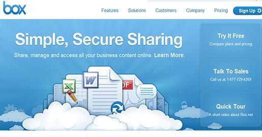 Box.net - Online file sharing and content management. Provides 5GB of Free Storage. Downside: No Data Encryption for Free Accounts.