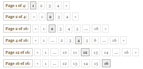 Miscellaneous examples of numbered pagination for this blog.