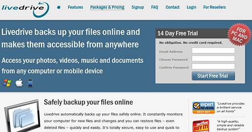 Livedrive is an online storage service that offers unlimited storage space, meaning that you can put as much as you want on your Livedrive without worrying about it. Also they do NOT limit the amount you upload or download to the Livedrive servers (bandwidth).