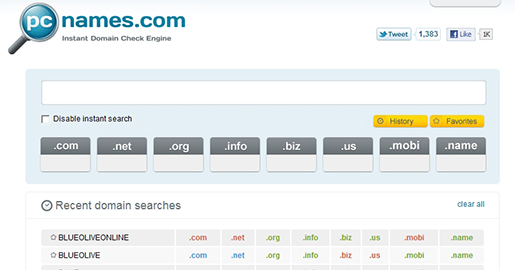 PCNames - Instant domain check engine. Based on your query, PCNames.com instantly checks whether .com, .net, .org, .info, .biz, .us, .mobi and .name domain names are available.