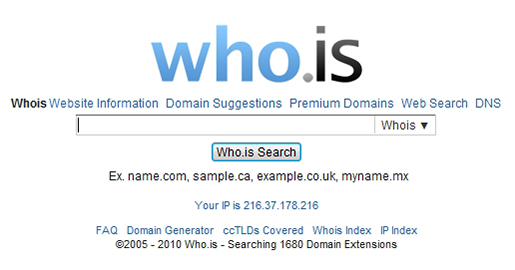 Who.is - Website Information, Domain Suggestions, Premium Domains, Web Search, DNS.