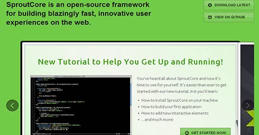 SproutCore is an open-source framework for building fast and innovative user experiences on the Web. A framework for building fast, desktop caliber Web applications.