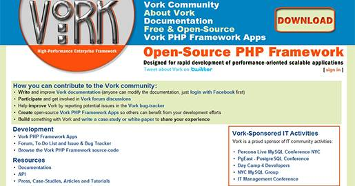 Vork is an Open-source high-performance enterprise PHP framework designed for rapid development of scalable applications.