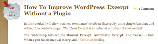 Custom WordPress automatically generated excerpt.