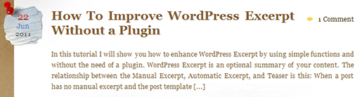 Default WordPress automatically generated excerpt.