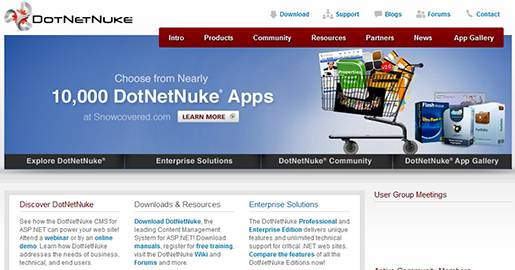 DotNetNuke is a Web Content Management Platform for Microsoft ASP.NET. The flexible DotNetNuke open source CMS platform also functions as a Web application development framework. DotNetNuke is flexible and open platform and is easy to use.