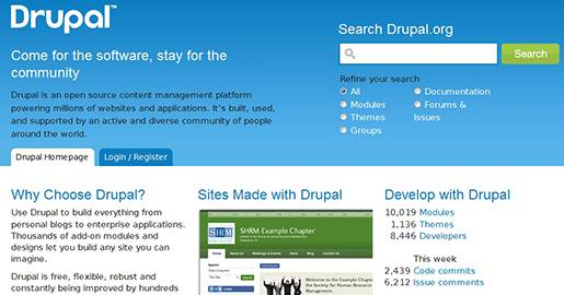 Drupal is a free software package that allows anyone to easily publish, manage and organize a wide variety of a Website´s content. It is an open source content management platform powering millions of Websites and applications.