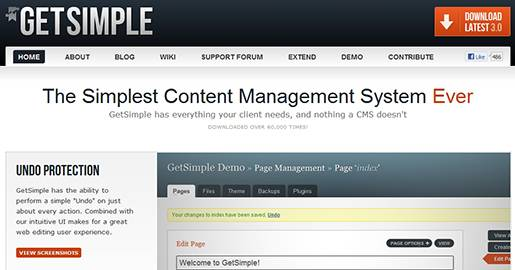 GetSimple is an XML based lite Content Management System. Loaded with features that every Website needs, but with nothing it doesn´t. GetSimple is the simplest way to manage a small-business Website. Unlike others it does not require a MySQL Database.