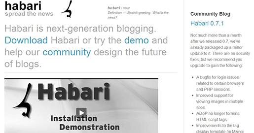 Habari is next-generation blogging. Habari is being written with a firm understanding of the current state of blogging. Habari strongly favors open, standard, and documented protocols. Atom, being both open and documented, is the prefered syndication format. Habari is being written specifically for modern Web hosting environments, and uses modern object-oriented programming techniques.