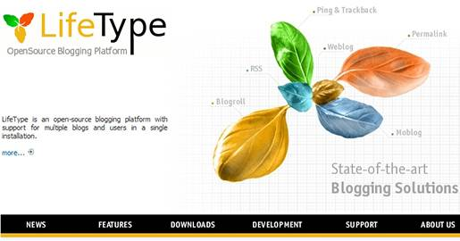 LifeType is an open-source blogging platform with support for multiple blogs and users in a single installation. Each blog can be run in its own language and can be customized using a template engine. LifeType also features Bayesian spam filtering, media uploads, file handling, a customizable search engine friendly URLs and an administration area.