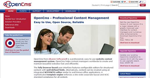 OpenCms is an easy to use Web CMS. OpenCms helps content managers to create and maintain beautiful Websites. OpenCms is based on Java and XML.