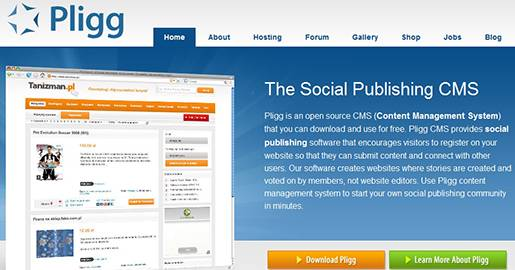 Pligg is an open source CMS. Pligg provides social publishing software