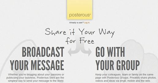 Posterous is the easiest publishing platform around. If you can email, you can manage a Website and share it with small groups or the world.