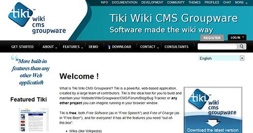 Tiki Wiki CMS Groupware is a powerful, Web-based application. Tiki is the ideal tool for you to build and maintain your Website/Wiki/Groupware/CMS/Forum/Blog/Bug Tracker or any other project you can imagine.