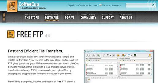 Free FTP CoffeeCup Software.