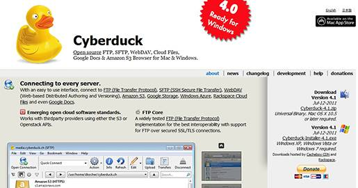 Cyberduck–FTP, SFTP, WebDAV, Cloud Files, Google Docs & Amazon S3 Browser.