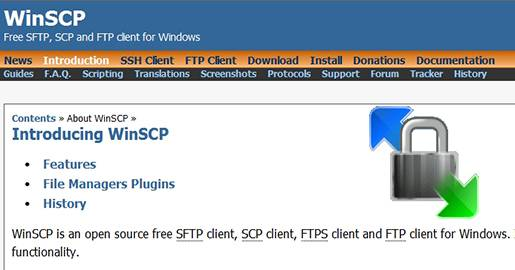 WinSCP-Free SFTP and FTP client for Windows.