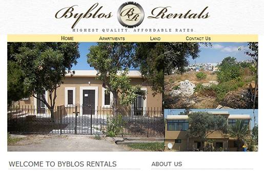 Byblos Land and Apartments Rentals.