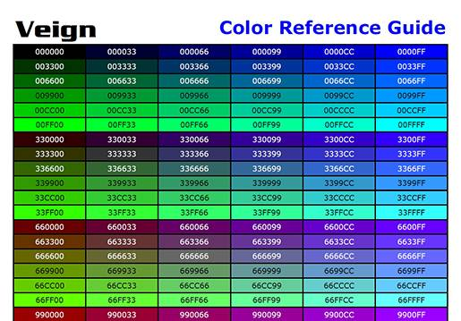 Color Reference Guide.