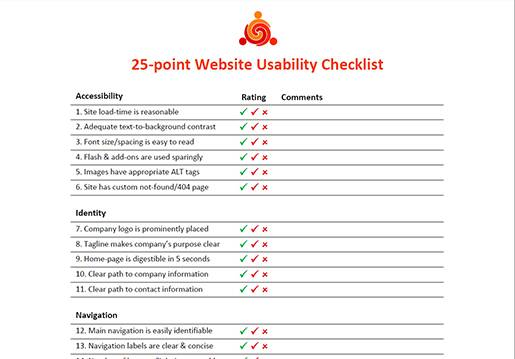 25-point Website Usability Checklist.