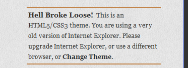 Error message displayed for Internet Explorer version 6 and older. Diary Theme - Boutros AbiChedid Blog.