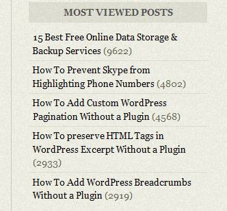 Emplode theme: Most Viewed Posts.