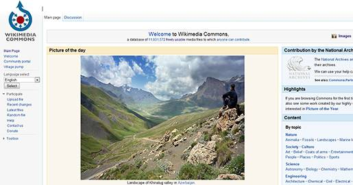 Wikimedia Commons - a database of 11,931,572+ freely usable media files to which anyone can contribute.