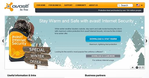 Avast! Free Antivirus Software for Virus Protection.