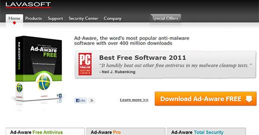 Ad-Aware - Free protection against viruses, spyware and adware.
