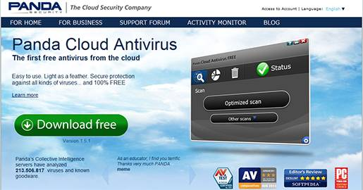 Panda Cloud Antivirus Free Edition - The best free antivirus and the first free antivirus from the cloud.