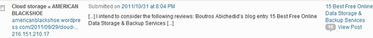 Boutros AbiChedid Blog. Pingback notification in the form of a comment that tells me that the AMERICAN BLACKSHOE blog linked to a post of mine.