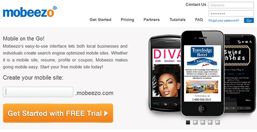 Mobeezo - Create your own mobile Website.