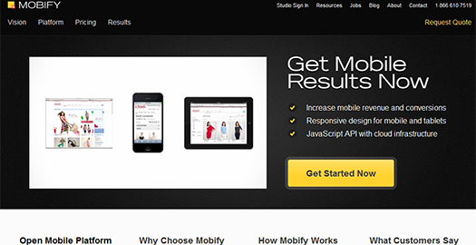 Mobify - A platform that allows you to take content from the desktop Website and transform it to display on Mobile and Tablet devices. You only have the maintain the desktop Website while the mobile and Tablet Websites automatically update themselves.