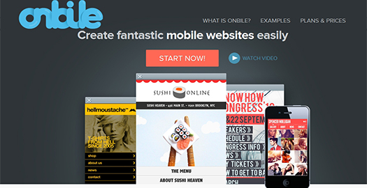 Onbile - Create your mobile Website with premium templates.