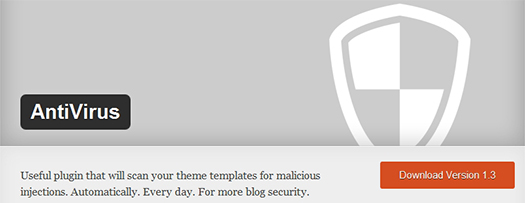 AntiVirus. WordPress Plugin.