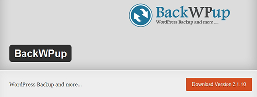 BackWPup. WordPress Plugin.