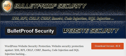 BulletProof Security. WordPress Plugin.