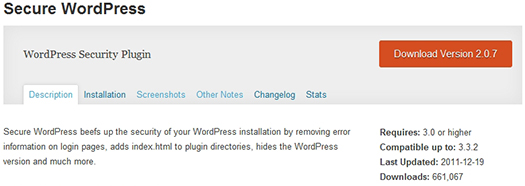 Secure WordPress. WordPress Plugin.
