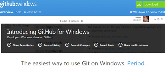 GitHub for Windows.